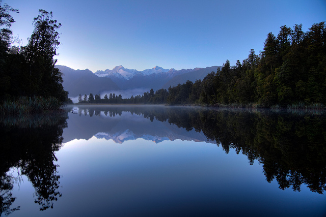 Reflections of Lake Matheson, New Zealand