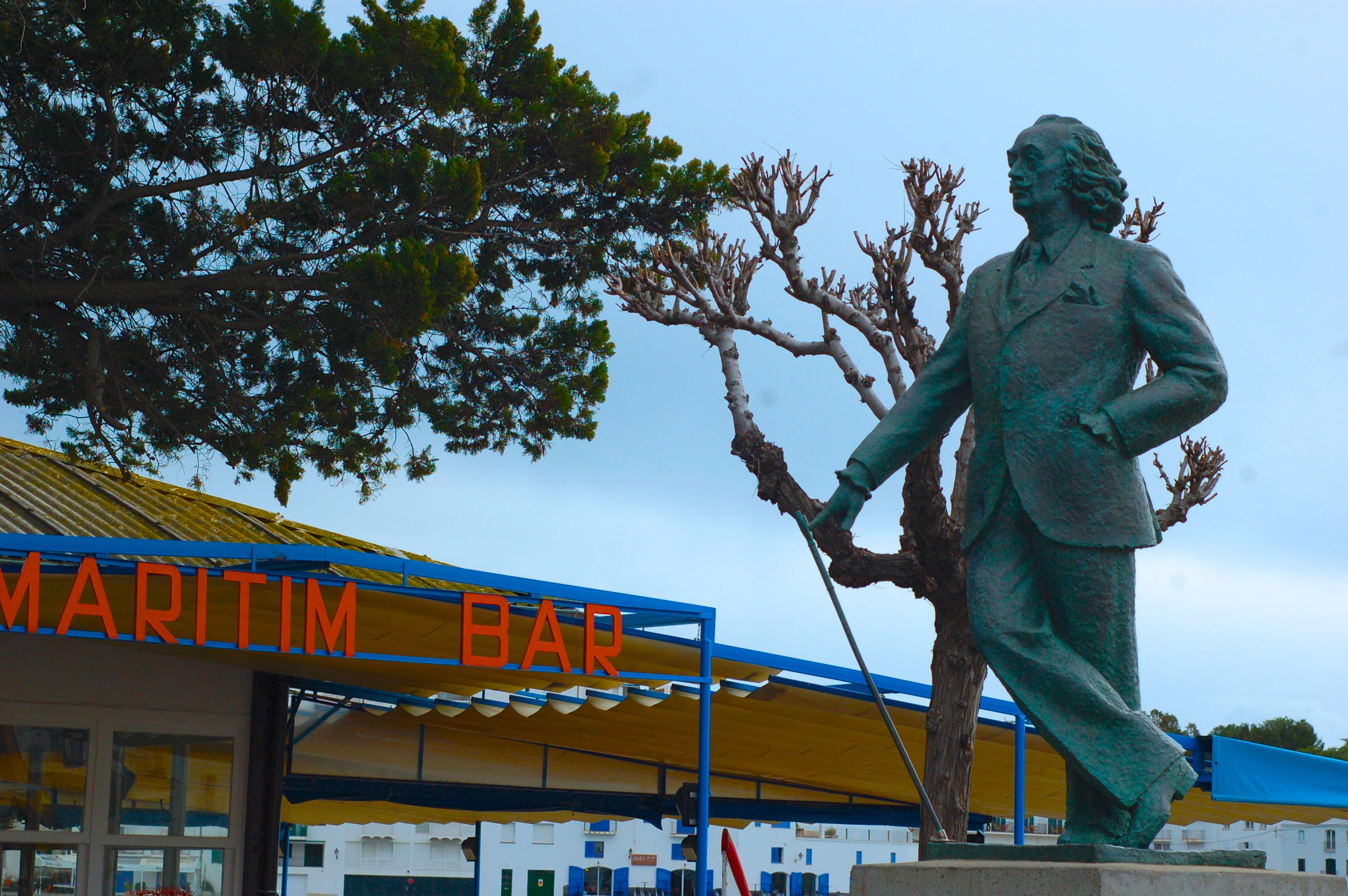 Visiting Cadaqués, Spain Salvador Dali statue
