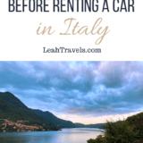 Pinterest Italy rental car