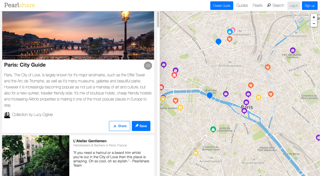 Pearlshare Paris City Guide