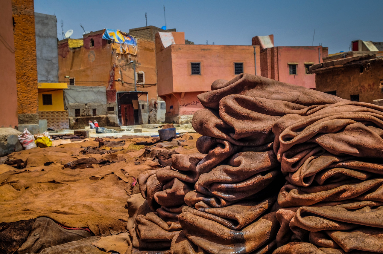 leather tannery in Marrakesh
