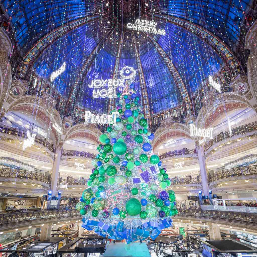 Celebrate Christmas in Paris at Galeries Lafayette by Leah Walker