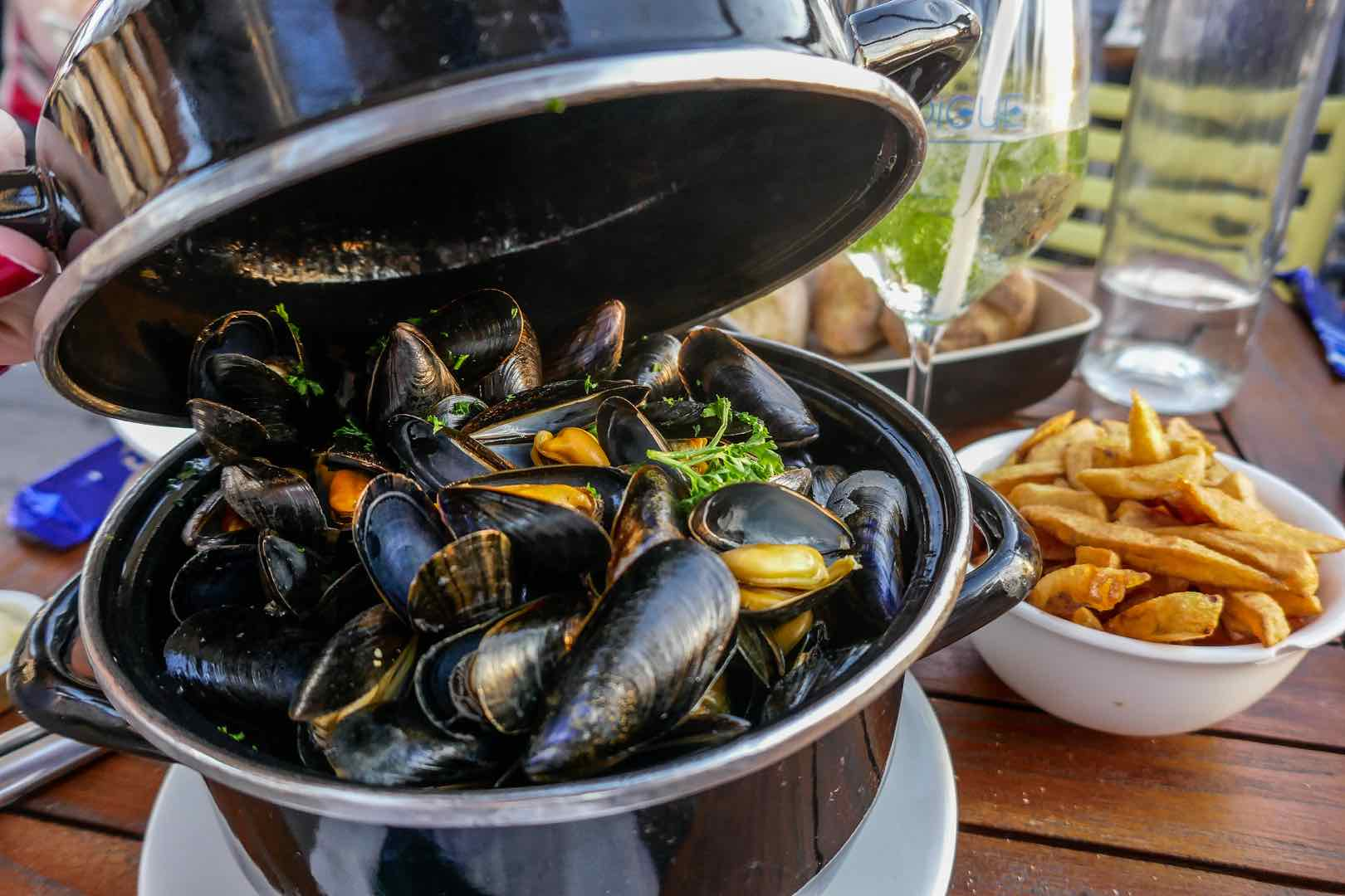 moules frites Normandy