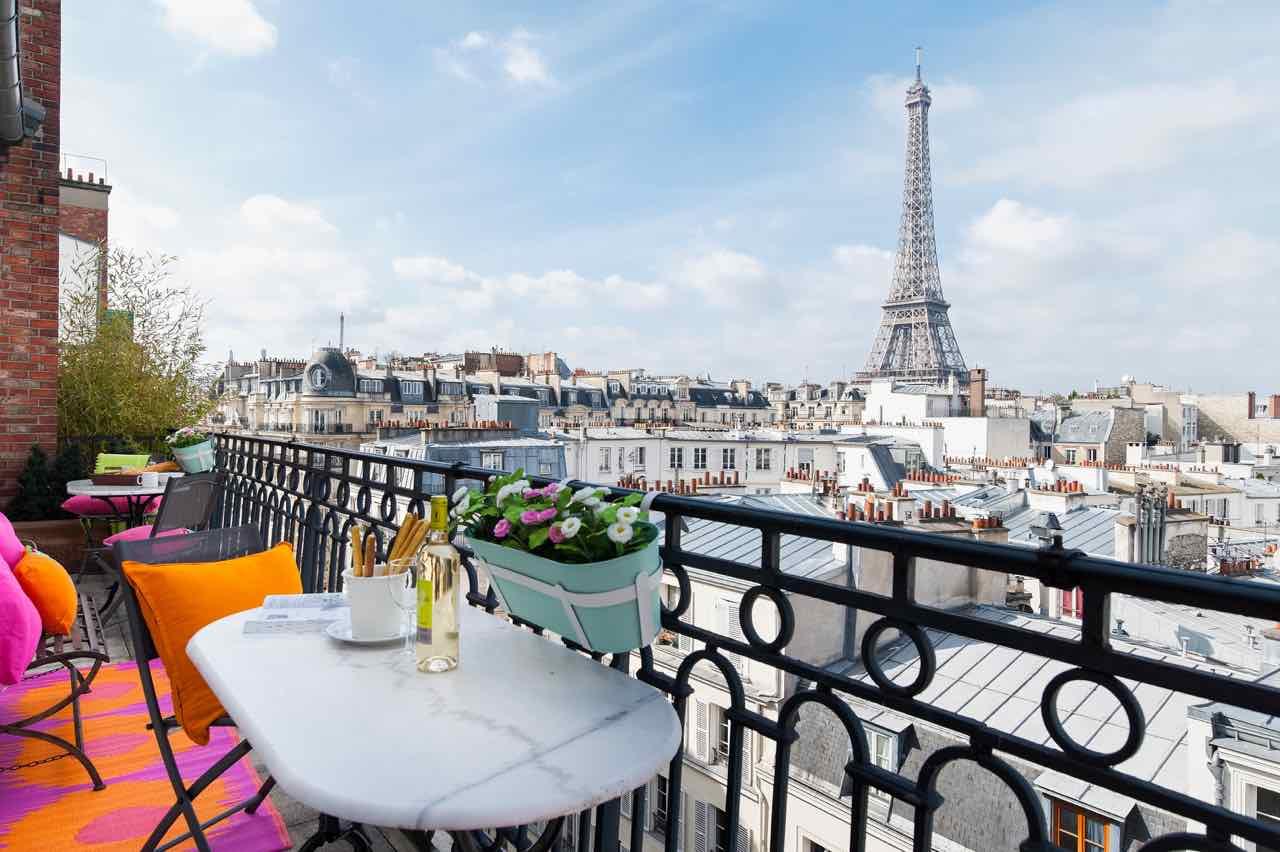 Eiffel Tower View Paris Perfect
