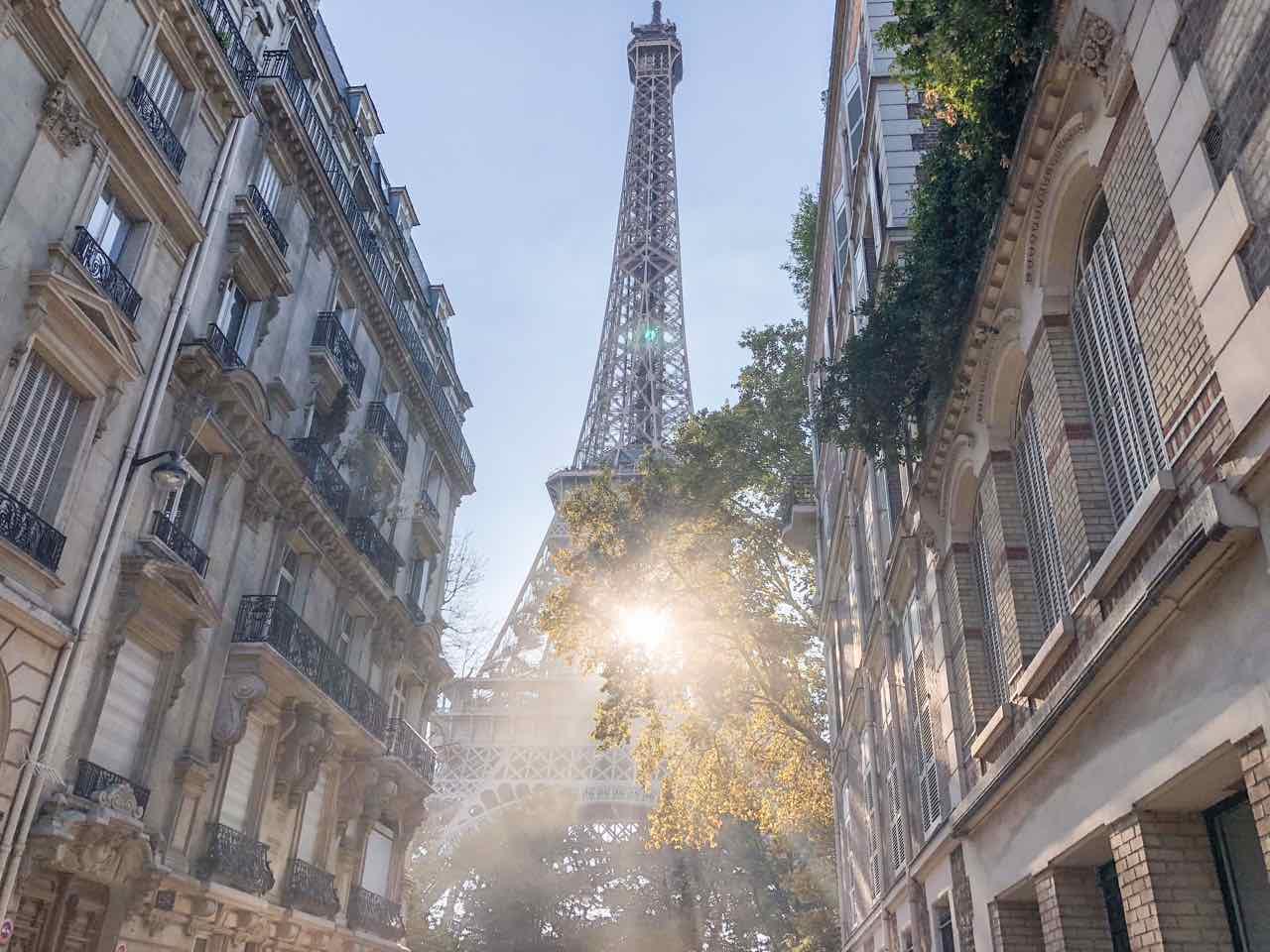 Eiffel Tower View Rue de l'Universite
