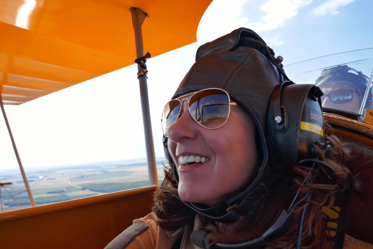 Flying in a Bi-Plane