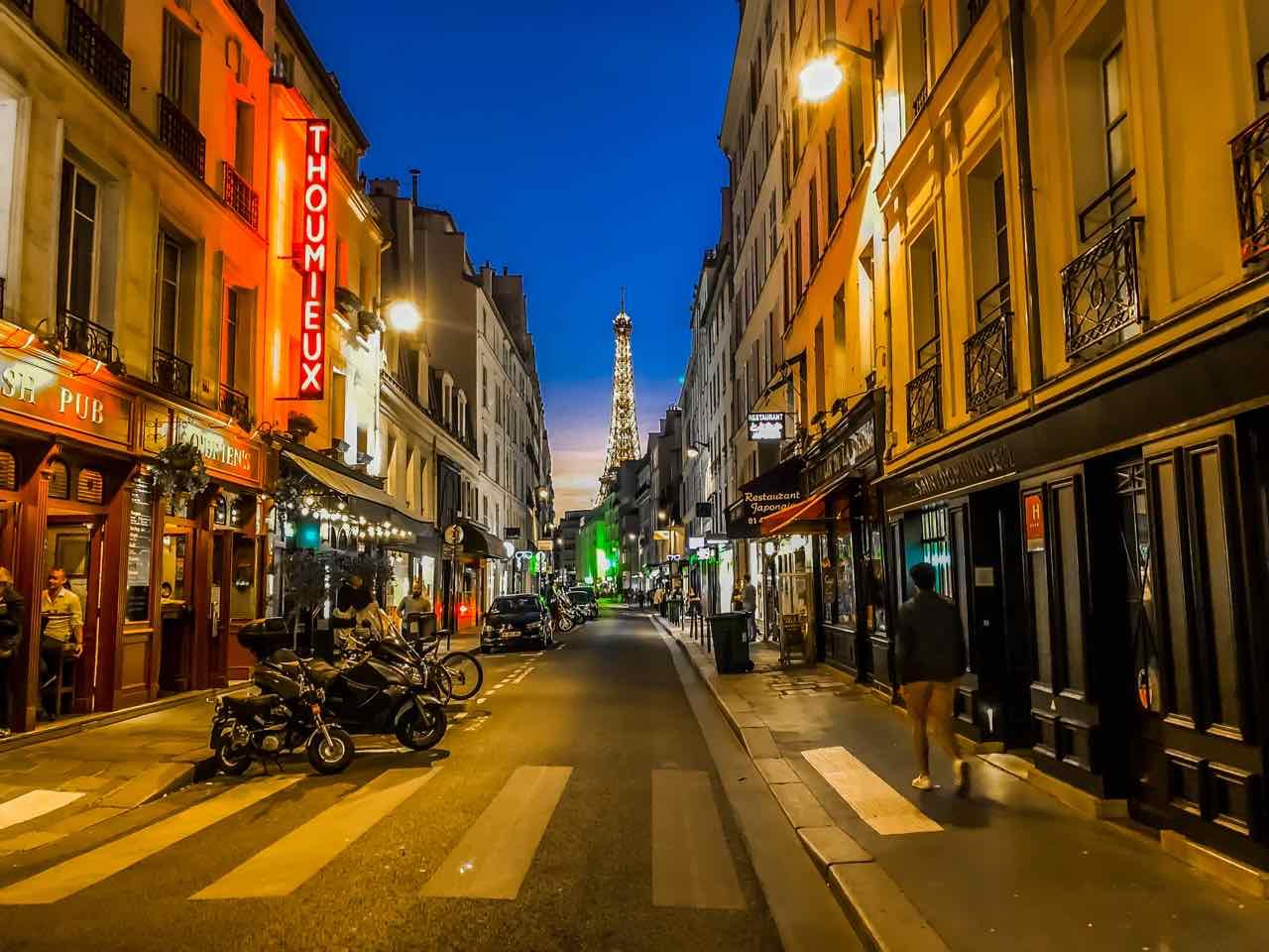 Eiffel Tower on Rue Saint-Dominique