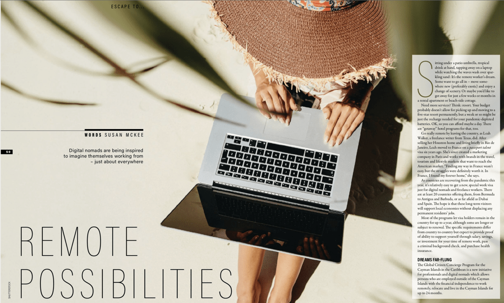 Remote Possibilities Article